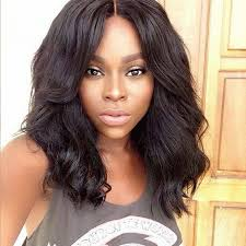 long black hair with part in the middle glueless full lace wigs indian remy hair middle part body wave
