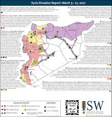 Syria War Map by Isw Blog Syria Situation Report March 9 17 2017