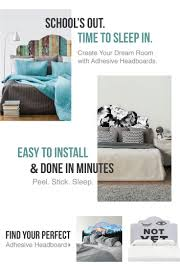 37 best dorm style home ideas images on pinterest dorm back these adhesive headboards from wallsneedlove are giving us major bed envy they re