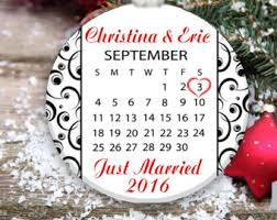 Personalized Wedding Christmas Ornaments Wedding Christmas Ornament Date Etsy