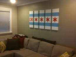 Chicagos Flag Chicago Flag Living Room Art Custom Hand Painted Art I Did U2026 Flickr