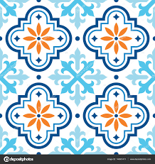 Morocco Design by Spanish Tile Pattern Moroccan Tiles Design Seamless Blue And