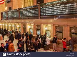 travelers crowd grand central terminal in new york for the stock