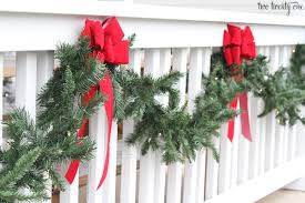 holiday front porch with lowe s habitat for humanity christmas porch garland