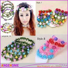 festival flower headbands discount 2016 girl flower headbands festival wedding garland