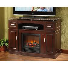 furniture brown stained wooden fireplace media cabinet with brown