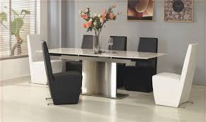 Modern White Dining Room Dining Room Minimalist Glass Rectangle Modern Dining Room Sets
