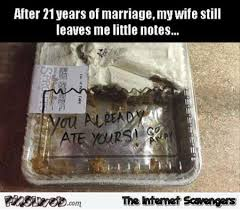 Marriage Memes - after 12 years of marriage my wife still leaves me little notes