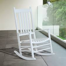White Rocking Chair Outdoor by Outsunny Porch Rocking Chair Outdoor Patio Wooden Rocking Chair