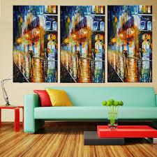 Modern Art Wohnzimmer Bunte Alleebäume Paletten Messer Acryl Leinwand Anstrich Für