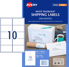 shipping labels with trueblock 936063 avery australia