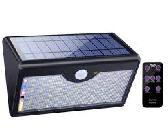 solar lights outdoor with remote 1300lm 60 led wireless