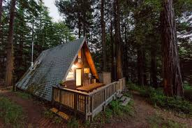 aframe homes redwoods a frame tiny house amazes guests around the globe