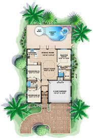 florida mediterranean house plan 60495 level one floor plans
