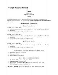 Simple Resume For Job by Examples Of Resumes Resume Standard Format Sample Intended For