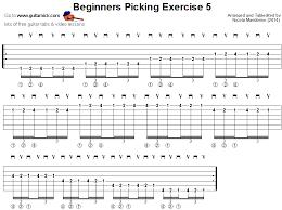 Picking Sheet Beginners Picking Exercise 5 Png 874 654 Pixels Guitar Tabs
