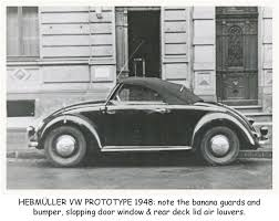 ferdinand porsche beetle og 1949 volkswagen vw hebmüller typ14a prototype dated 1948