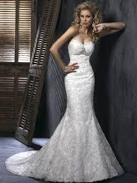 glamorous lace strapless sweetheart mermaid wedding dress wm