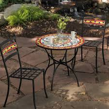 Pier One Bistro Table Furniture Enchanting Mosaic Bistro Round Table Ideas Enticing