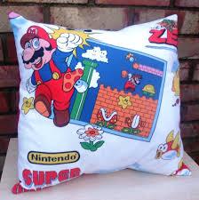 Super Mario Home Decor Super Mario Bros Game Nintendo Vintage Fabric Cushion U2013 Handmade