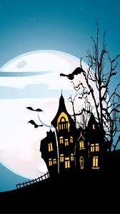 haunted old house in the night of halloween wallpaper download