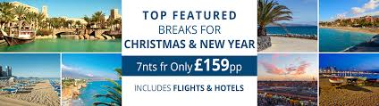 cheap holidays and new year 2016 2017 breaks from 159pp