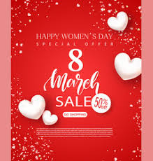 s day sale 8 march happy women s day sale banner beautiful vector image