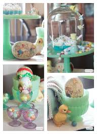 vintage easter decorations a vintage easter atta girl says