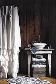 Anthropologie Ruffle Shower Curtain Bathroom White Ruffle Shower Curtain Cloth Shower Curtains