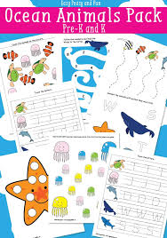 ocean animals printables for kids easy peasy and fun