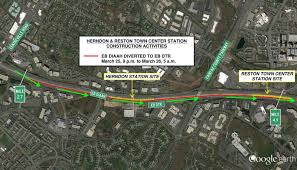 Dulles Town Center Map Update Nighttime Lane Closures And Detours On The Dulles
