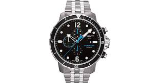 tissot steel bracelet images Lyst tissot mens swiss automatic chronograph seastar stainless jpeg