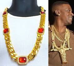 chain necklace ebay images Mens iced out hip hop 15mm 33 quot rappers miami cuban link red ruby jpg