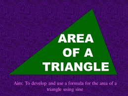 the area of a triangle using sine by rosiehns teaching resources