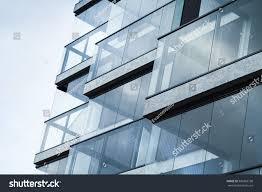 abstract fragment modern architecture walls made stock photo