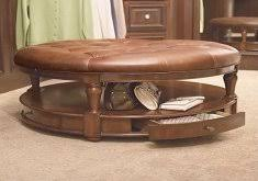 round leather coffee table ottoman home design ideas and inspiration