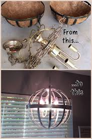 Basket Chandeliers Hanging Wire Baskets Brass Chandelier Fixture Silver Metallic