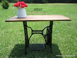 Antique Singer Sewing Machine Table Simply Country Life Antique Singer Sewing Machine Table Makeover