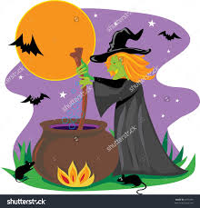 halloween coldren background witches cauldron clipart collection
