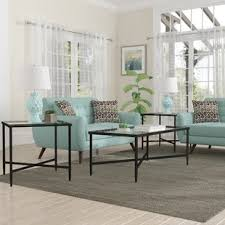 glass living room table sets glass coffee table sets you ll love wayfair