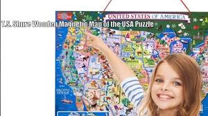 Usa Puzzle Map by T S Shure Wooden Magnetic Map Of The United States Puzzle Youtube