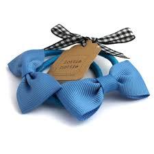 ribbon hair bands blue bow hair bands pair lottie nottie