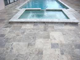 stone miami silver travertine tile french pattern chiseled tile