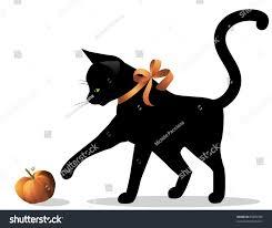 Cute Halloween Vector Halloween Cat Cute Halloween Cat Wearing Stock Vector 85085938