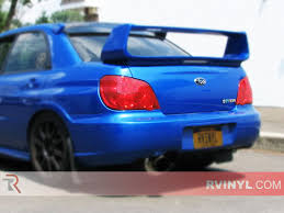subaru impreza modified blue rtint subaru impreza sedan 2006 2007 tail light tint film