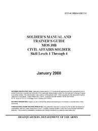 restricted u s army civil affairs soldier training manual stp 41