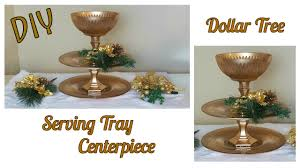 Home Decor Tree Diy Dollar Tree Gold 3 Tiered Stand Tutorial Christmas