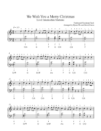 we wish you a merry by traditional piano sheet