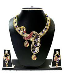 beautiful necklace online images Zaveri pearls beautiful peacock designer necklace set buy zaveri jpg