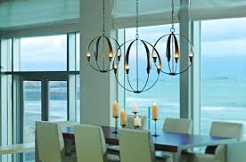 interiors modern chandelier dining room collection with long light